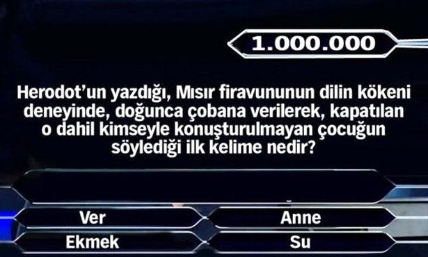 Kim Milyoner Olmak İster 1 Milyonluk Sorular