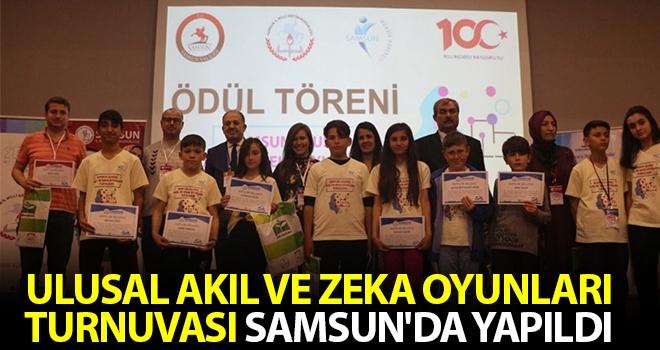 Ulusal Akıl ve Zeka Oyunları Turnuvası Samsun'da yapıldı