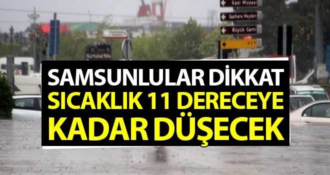 9 Ekim Samsun'da Hava Durumu