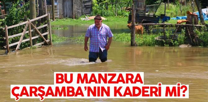 Çarşamba'da 32 Mahallede 2600 Dekar Tarım Arazisi Zarar Gördü!