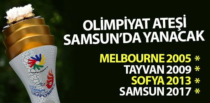 Olimpiyat Ateşi Samsun'da Yanacak!