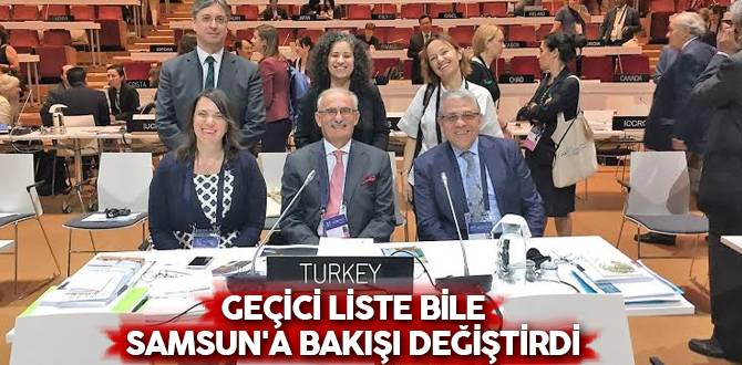 """Başkan Yılmaz, """"Geçici Liste Bile Samsun'a Bakışı Değiştirdi"""""""