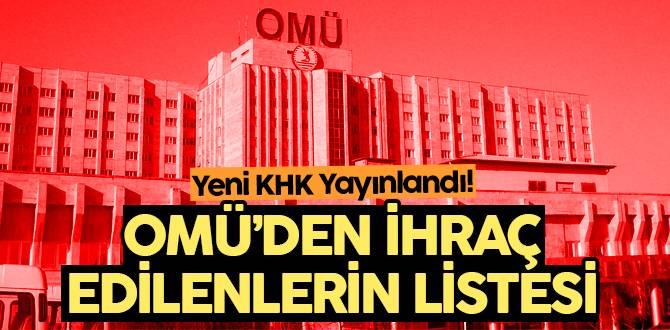 OMÜ'den ihraç edilenlerin listesi