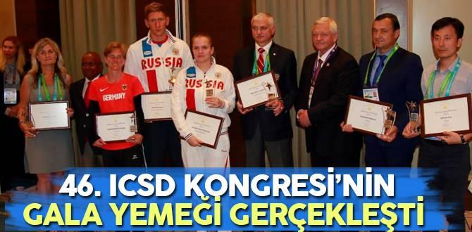 46. ICSD Kongresi'nin gala yemeği gerçekleşti