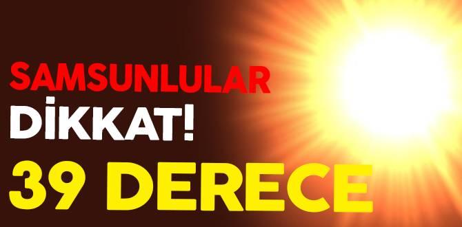 Samsun'da 27 Temmuz Hava Durumu