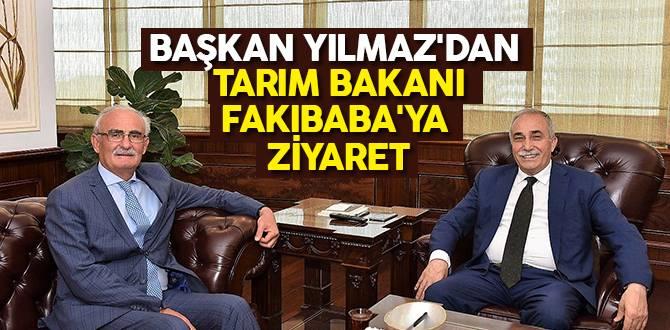Başkan Yılmaz'dan Tarım Bakanı Fakıbaba'ya Ziyaret