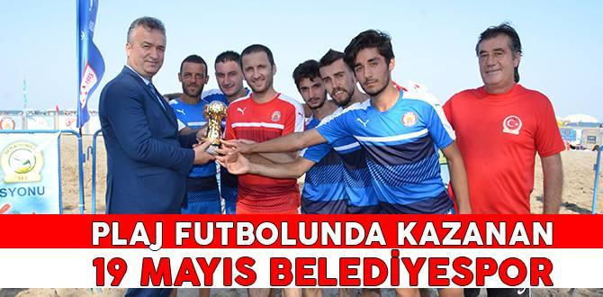 Plaj Futbolunda Kazanan 19 Mayıs Belediyespor