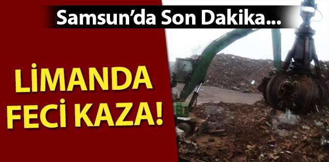 Samsun'da Limanda İş Kazası