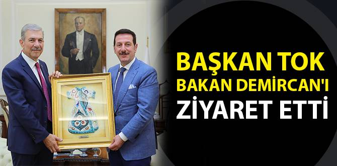 Başkan Tok Bakan Demircan'ı Ziyaret Etti