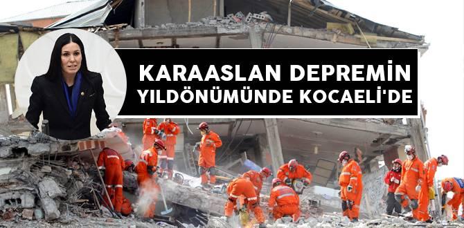 Karaaslan Depremin Yıldönümünde Kocaeli'de