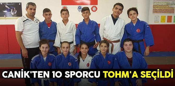Canik'ten 10 sporcu TOHM'a seçildi