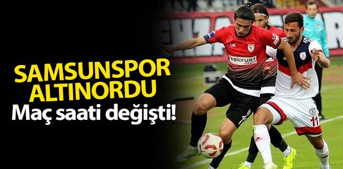 Samsunspor-Altınordu maçı saat kaçta