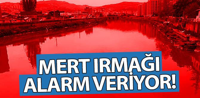 Samsun'da Mert Irmağı alarm veriyor
