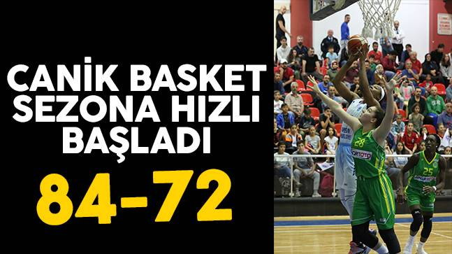 Canik Basket sezona hızlı başladı