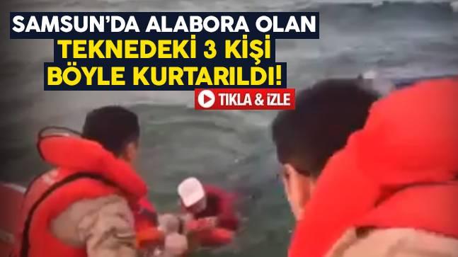 Samsun'da tekne alabora oldu!