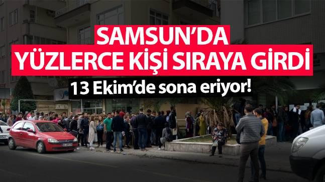Samsun'da Kayıt Kuyruğu!