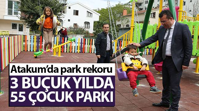 Atakum'da, 3 buçuk yılda 55 çocuk parkı