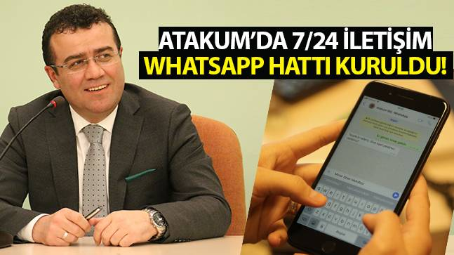 Atakum'da 7/24 İletişim..! WhatsApp hattı kuruldu