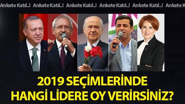 2019 seçimlerinde hangi lidere oy verirsiniz?