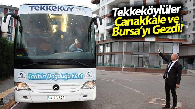 Muhtarlar Başkan Togar'a Çanakkale ve Bursa gezisi için teşekkür ettiler