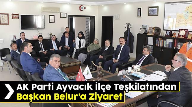 AK Parti Ayvacık ilçe teşkilatından başkan belur'a ziyaret