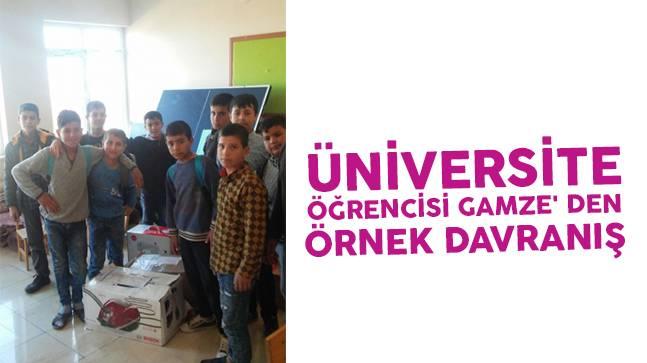 Üniversite öğrencisi Gamze'den örnek davranış
