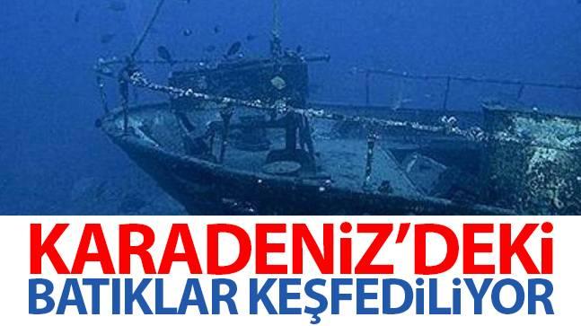 Karadeniz'deki batıklar keşfediliyor