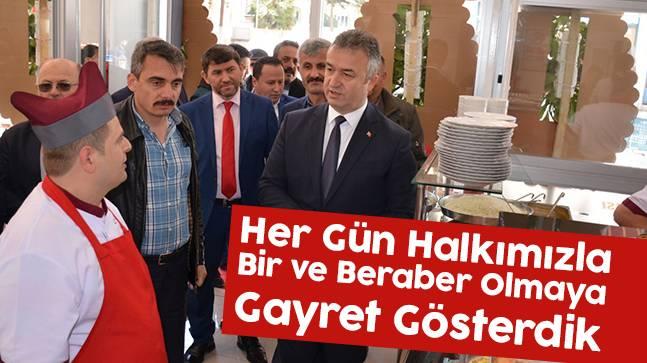 """Başkan Topaloğlu, """"Her Gün Halkımızla Bir ve Beraber Olmaya Gayret Gösterdik"""""""