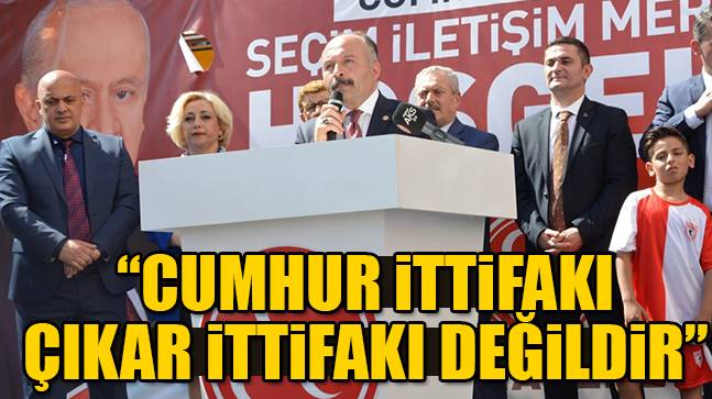 """Erhan Usta: """"Cumhur ittifakı çıkar ittifakı değildir"""""""