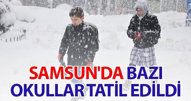 Samsun'da bazı okullar tatil edildi