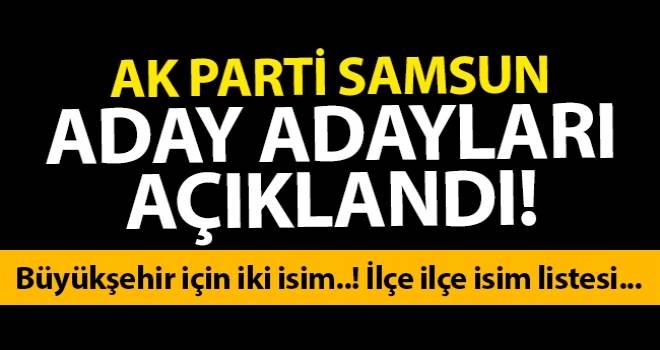 AK Parti Samsun Belediye Başkan Aday Adayları Listesi