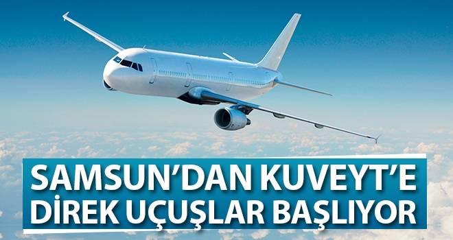 Samsun'dan Kuveyt'e Direk Uçuşlar Başlıyor