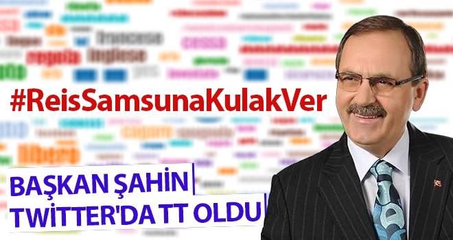 Başkan Zihni Şahin Twitter'da TT oldu