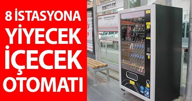 Samsun'da 8 istasyona yiyecek içecek otomatı