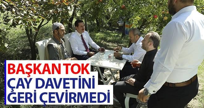 Başkan Tok Çay Davetini Geri Çevirmedi