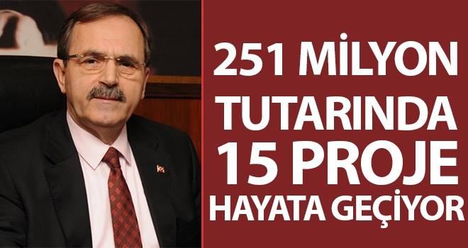Başkan Şahin: 251 Milyon Tutarında 15 Proje Hayata Geçiyor