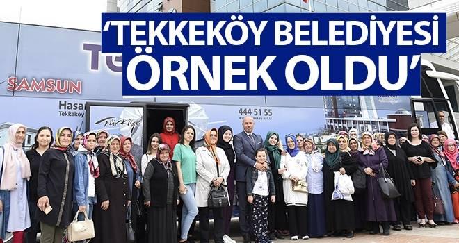 'Tekkeköy Belediyesi Örnek Oldu'