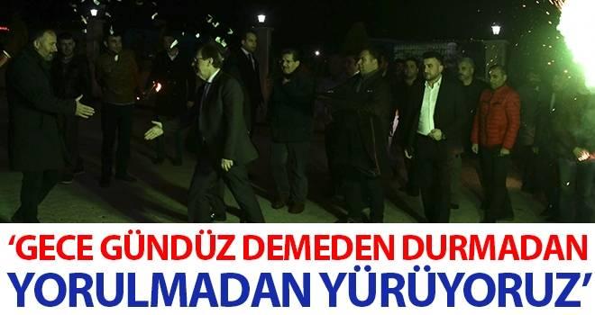 Başkan Şahin: Gece gündüz demeden, durmadan, yorulmadan yürüyoruz