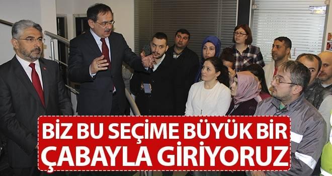 Mustafa Demir: Biz Bu Seçime Büyük Bir Çabayla Giriyoruz