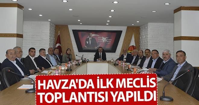 Havza'da İlk Meclis Toplantısı Yapıldı