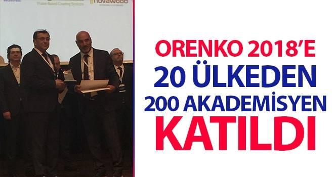 ORENKO 2018'e 20 Ülkeden 200 Akademisyen Katıldı