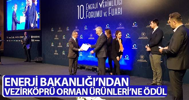 Enerji Bakanlığı'ndan Vezirköprü Orman Ürünleri'ne ödül