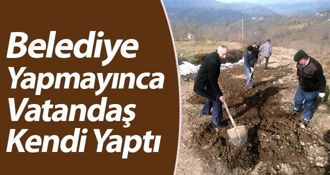 Samsun'da Yıllardır Yapılmayan Yol Çileden Çıkarttı