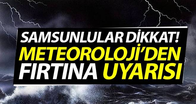4 Ekim Samsun'da Hava Durumu