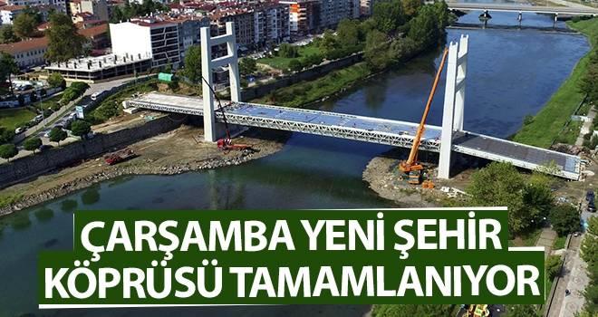 Çarşamba Yeni Şehir Köprüsü Tamamlanıyor