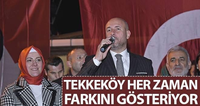 Başkan Togar: Tekkeköy Her Zaman Farkını Gösteriyor