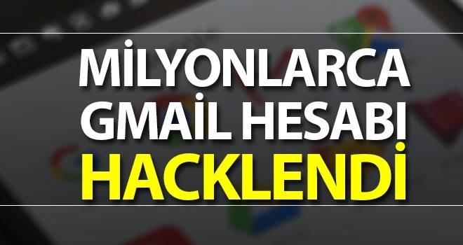 Milyonlarca Gmail hesabı hacklendi