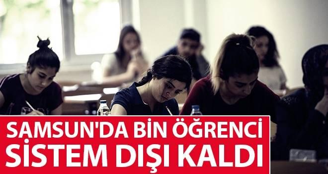 Samsun'da bin Öğrenci Sistem Dışı Kaldı