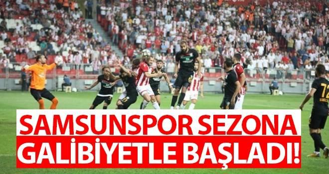 Samsunspor'un İlk Maçı Galibiyetle Tamamlandı