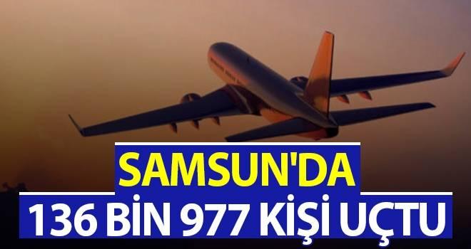 Samsun'da 136 bin 977 kişi uçtu